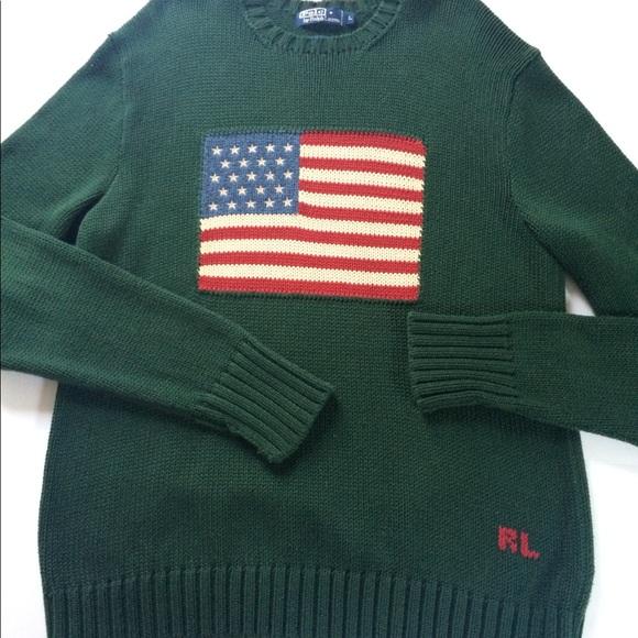 Large Flag Mens Polo Ralph Sweater Lauren Knit 8vmnON0w